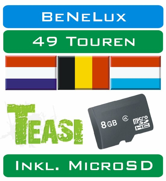 TEASI - 49 Touren BeNeLux auf MicroSD Card
