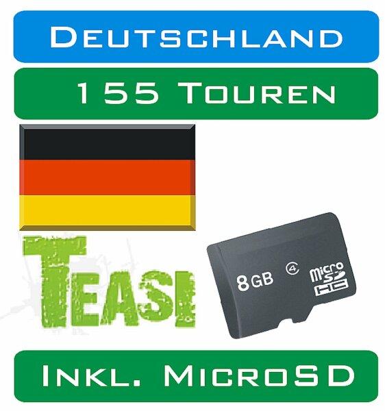 TEASI - 155 Touren Deutschland auf MicroSD Card